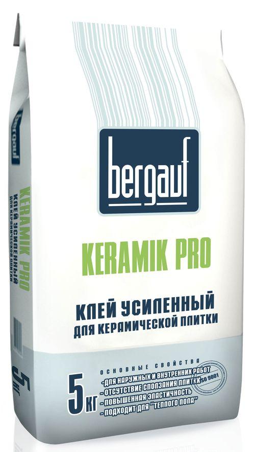 Клей Бергауф с усилением для керамической плитки