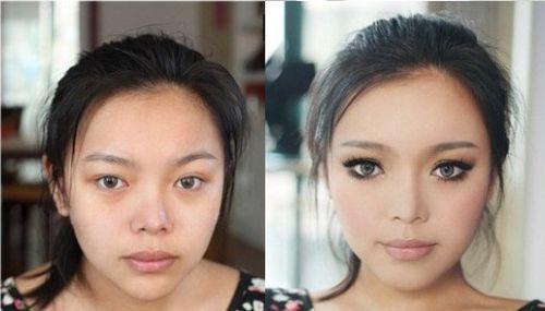 Результат до и после использования клея для век