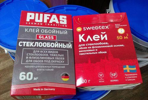 Клей Pufas для стеклообоев