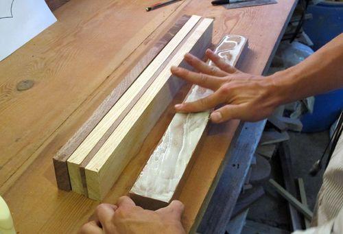 Склеивание деревянных брусков